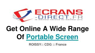 Buy Portable Screen Online From Best eCommerce Store