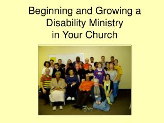 Beginning and Growing a Disability Ministry  in Your Church