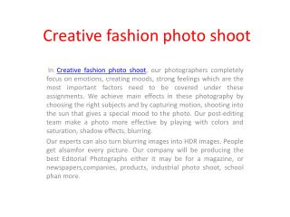 creative fashion photo shoot - Xiphiastudios