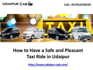 How to Have a Safe and Pleasant Taxi Ride in Udaipur
