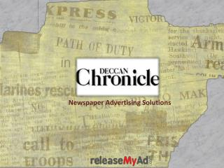 Deccan Chronicle Advertising Online
