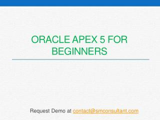 Oracle apex 5 for beginners | Oracle APEX Training