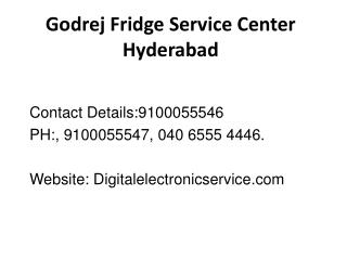 Godrej Fridge Service Center Hyderabad
