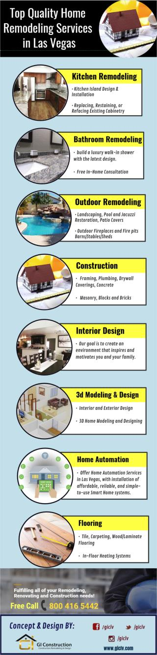 Top Quality Home Remodeling Services in Las Vegas