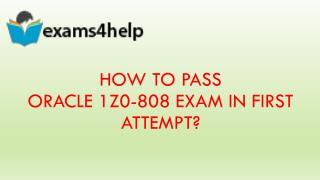 Get Latest Oracle 1z0-808 Exam with 1z0-808 PDF Dumps