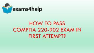 220-902 Real Exam Questions Answers