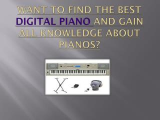 Want to find the best digital piano and gain all knowledge about pianos