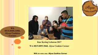 WA 0819.0895.5868, Agen Kue Kering Lebaran Buatan Rumah online Jakarta Alysa Cookies