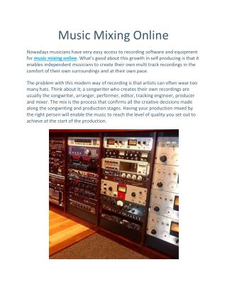Online Music Mixing