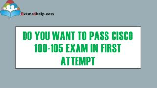 Latest 100-105 Exam with 100-105 PDF Dumps