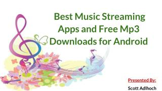 Best Music Streaming Apps and Free Mp3 Downloads for Android | Scott Adlhoch
