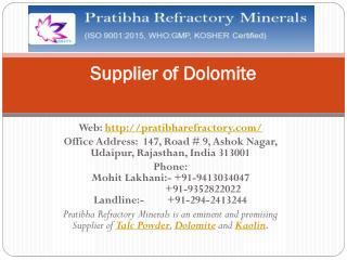 Supplier of Dolomite_Best_Price
