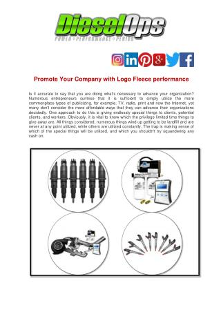Promote Your Company with Logo Fleece performance
