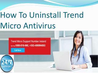 How To Uninstall Trend Micro Antivirus