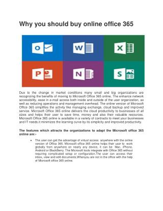 Why you should buy online office 365