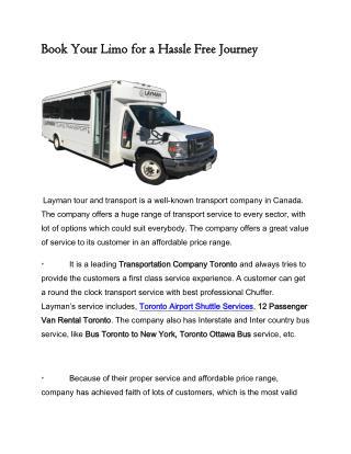 Layman Tour & Transport Inc