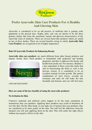 Buy Skin Care Products Online, Ayurvedic Skin Care Product Manufacturers Mumbai India