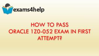 1z0-052 Exam Dumps Questions Answers