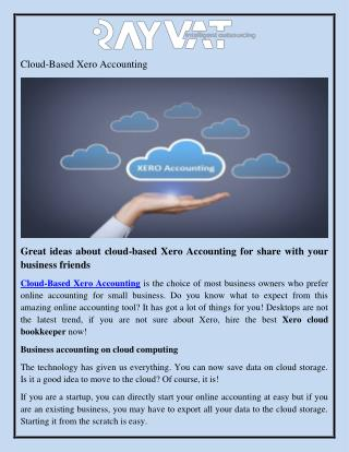 Cloud Based Xero Bookkeeping Services