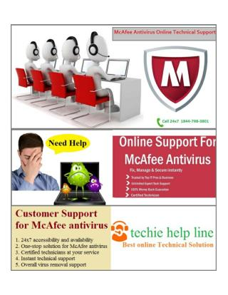 McAfee Antivirus  Online Technical Support