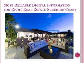 Real Estate Agent Sunshine Coast