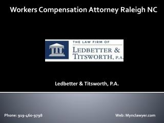 Workers Compensation Attorney Raleigh NC