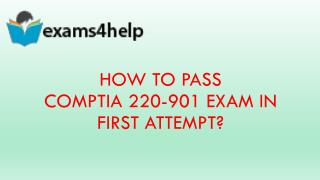 220-901 Exam Questions with 220-901 Dumps