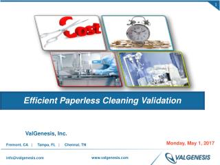 Efficient Paperless Cleaning Validation