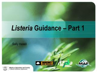 Listeria  Guidance – Part 1