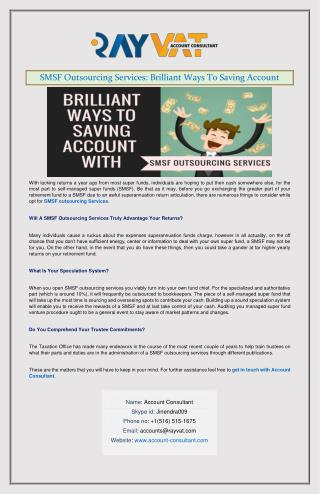 SMSF Outsourcing Services: Brilliant Ways To Saving Account