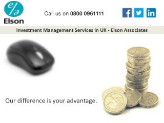 Investment Management Services in UK - Elson Associates