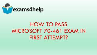 70-461 Real Exam Questions with 70-461 Dumps