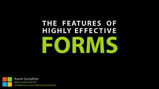 The Features of Highly Effective Forms [An Event Apart Nashville 2016]