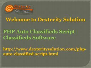 PHP Auto Classifieds Script | Classifieds Software | Auto Classifieds Script