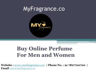 Buy Online Perfume for men and Women