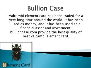 Gold Valcambi Element Card