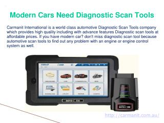 Modern Cars Need Diagnostic Scan Tools