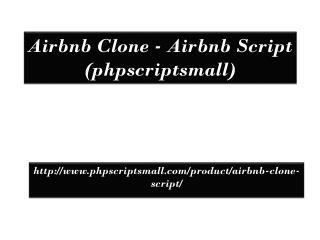 Airbnb Clone - Airbnb Script (phpscriptsmall)