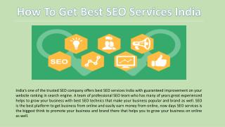 How to Get Best SEO Services India