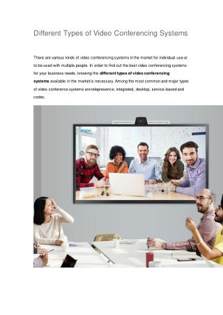 ezTalks - Different Types of Video Conferencing Systems