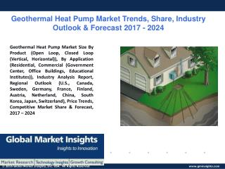 PPT for Geothermal Heat Pump Market Analysis, 2017 - 2024.