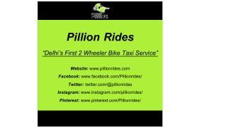 E-Bike Taxi Delhi
