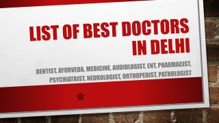 Curecity - List of renowned Doctors of Delhi