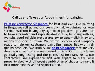 Call us and take your appointment for painting