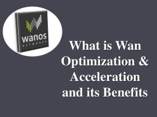 What is Wan Optimization & Acceleration and its Benefits