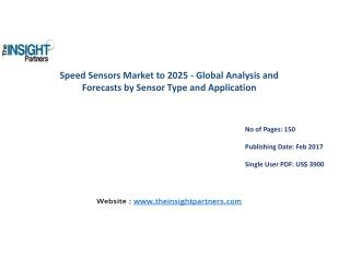 The Insight Partners Releases New Report on Speed Sensors Market 2016-2025
