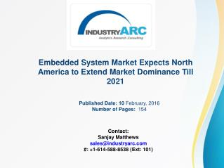 Embedded System Market Buoyed by the Latest Advances in Embedded Design