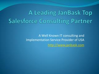 A Leading JanBask Top Salesforce Consulting Partner