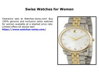 Swiss Watches for Women