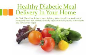 Diabetic Meal Delivery